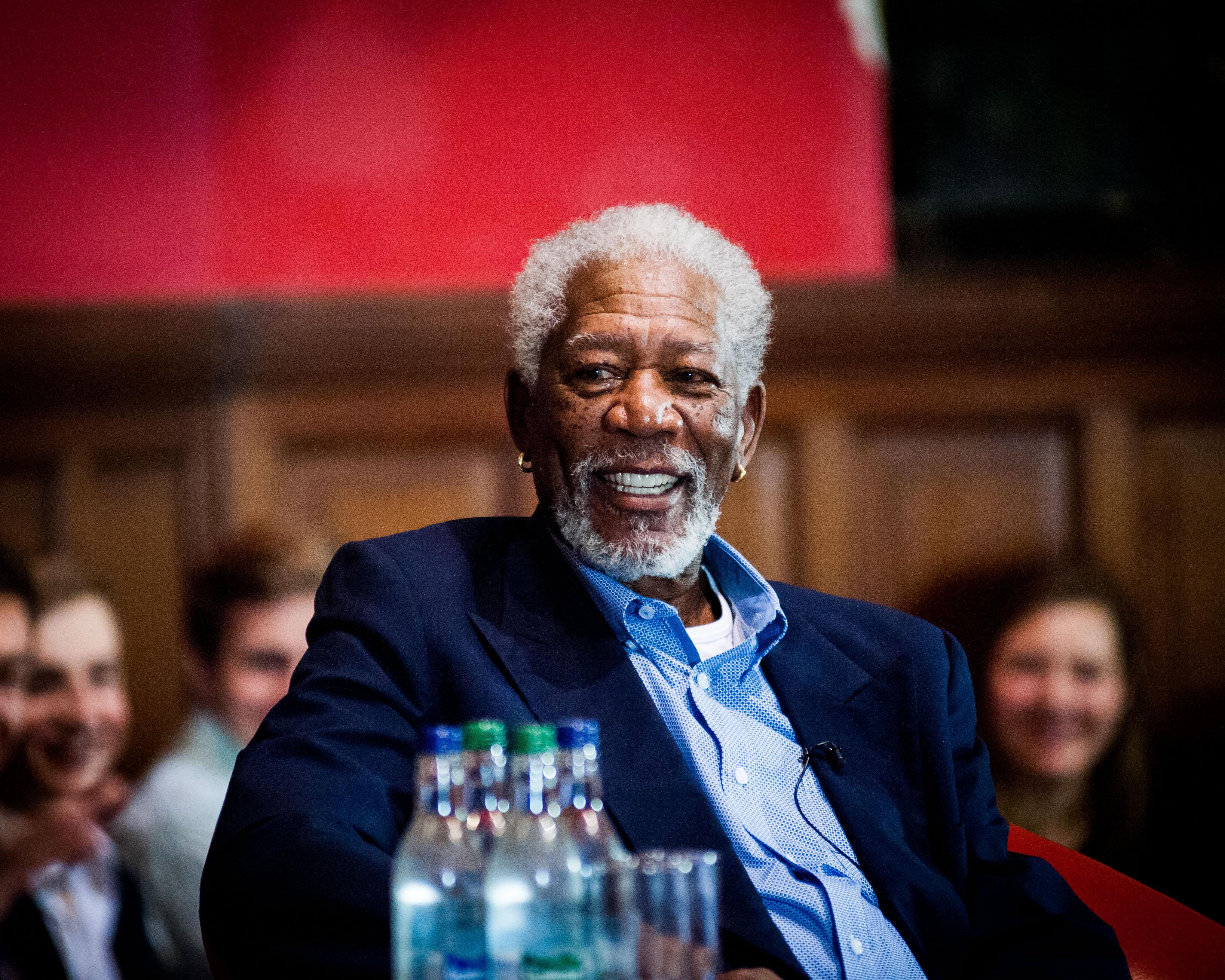 Oxford, U.K., November 11, 2014--Morgan Freeman speaks at inaugural SAG Foundation Conversations at Oxford (Photo credit: Roger Askew/Oxford University)