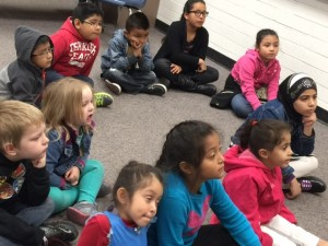 Kids were happy to listen to stories while their parents were in class
