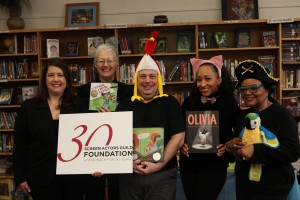 From left to right: Rebecca Damon (SAG Foundation Board member), Margaret Flannigan (Actor/BookPAL), Alan Greenberg (Actor/BookPAL), Gabrielle Lee (Acotr/BookPAL), Sandra Scott (Actor/BookPAL)