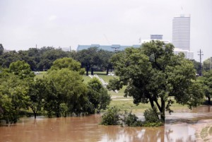 Buffalo Bayou following the Memorial Day flood, May 27, 2015 in Houston. (Byline: Eric Kayne, Byline Title: Stringer, Credit: Getty Images)